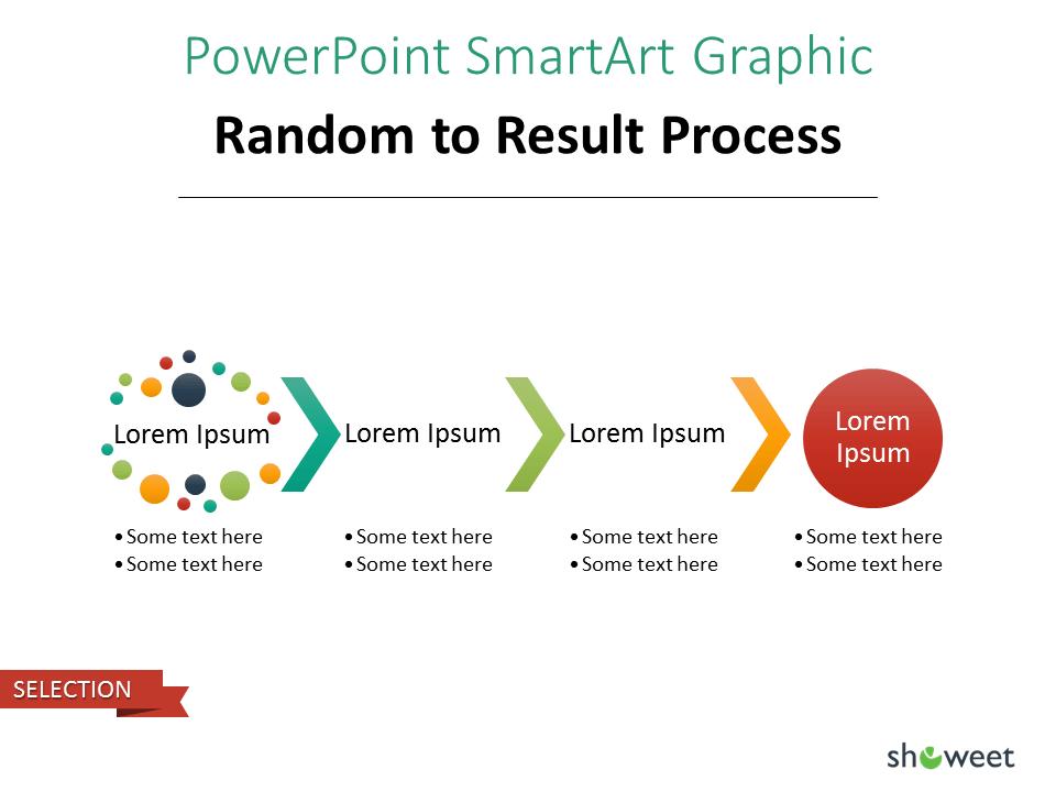 PowerPoint SmarArt Graphic - Random to Result Process