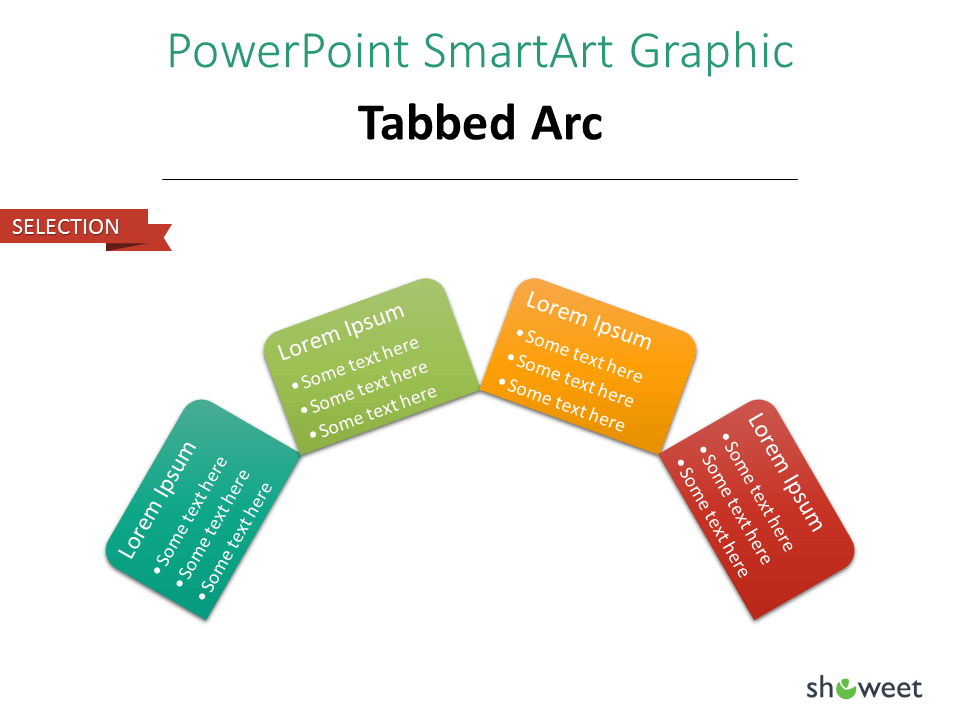 PowerPoint SmarArt Graphic - Tabbed Arc