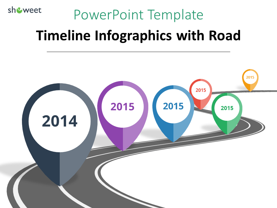 example of powerpoint timeline using road element