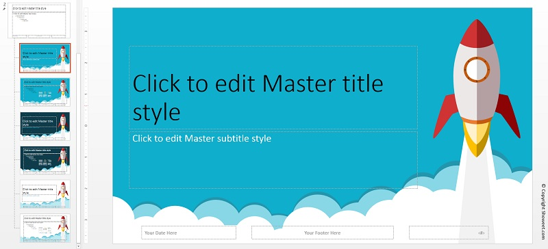 how to create a master template in powerpoint - rocket powerpoint template