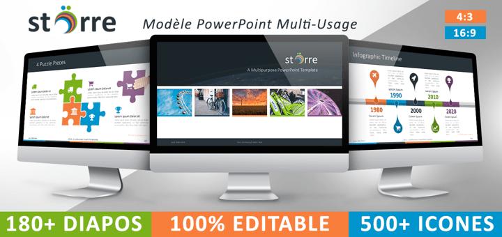 Modèle PowerPoint gratuit, multifonction et complet