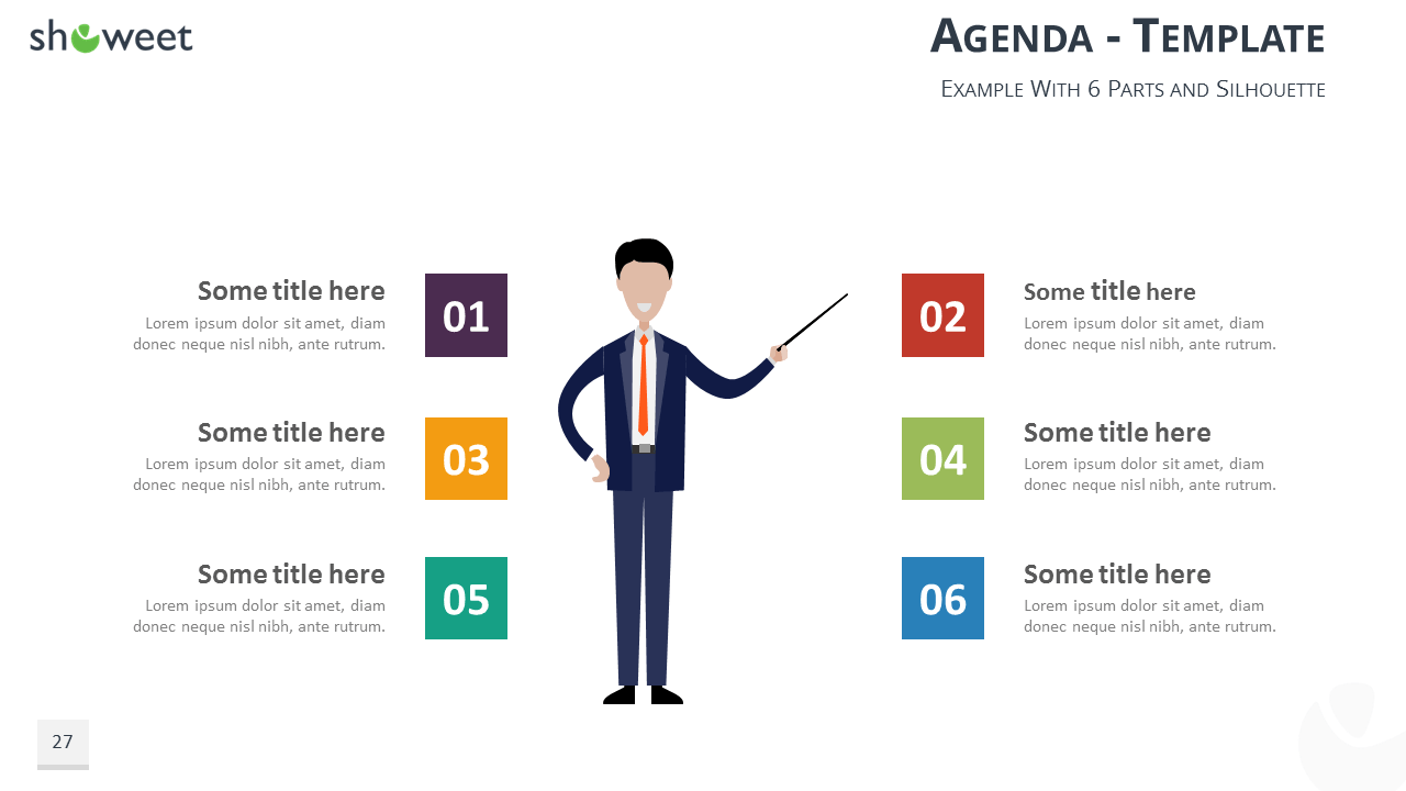 Table Of Contents Agenda PowerPoint And Keynote Template   Editable  Silhouette