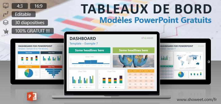 Tableaux de Bord - Modèles pour PowerPoint Gratuits