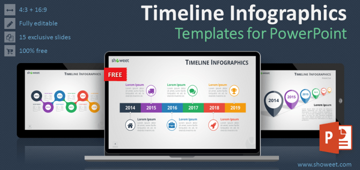 Free timeline infographics templates for powerpoint ready to use