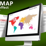 Free PowerPoint World Map with Rollover Effect
