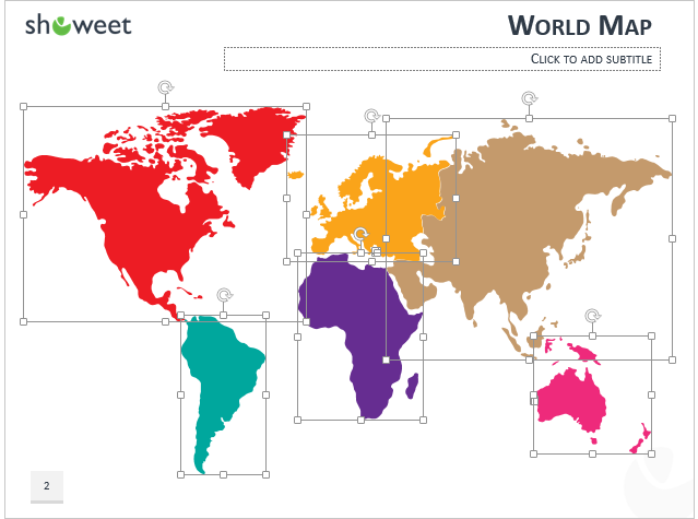 Powerpoint world map with rollover effect free world map powerpoint with editable continents gumiabroncs Image collections