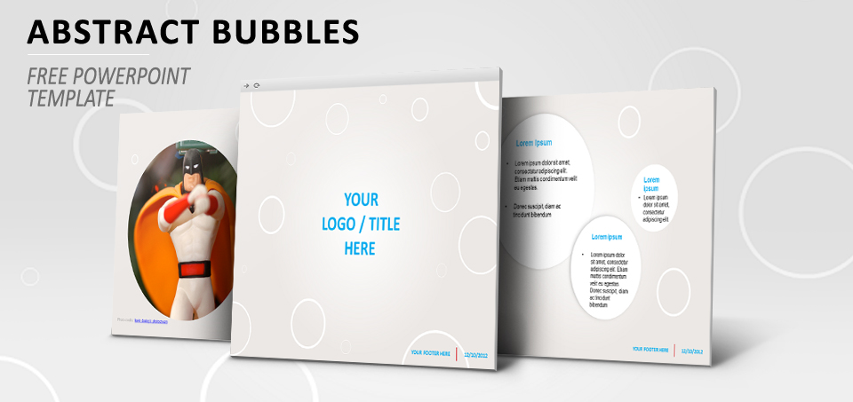 Abstract bubbles free PowerPoint template