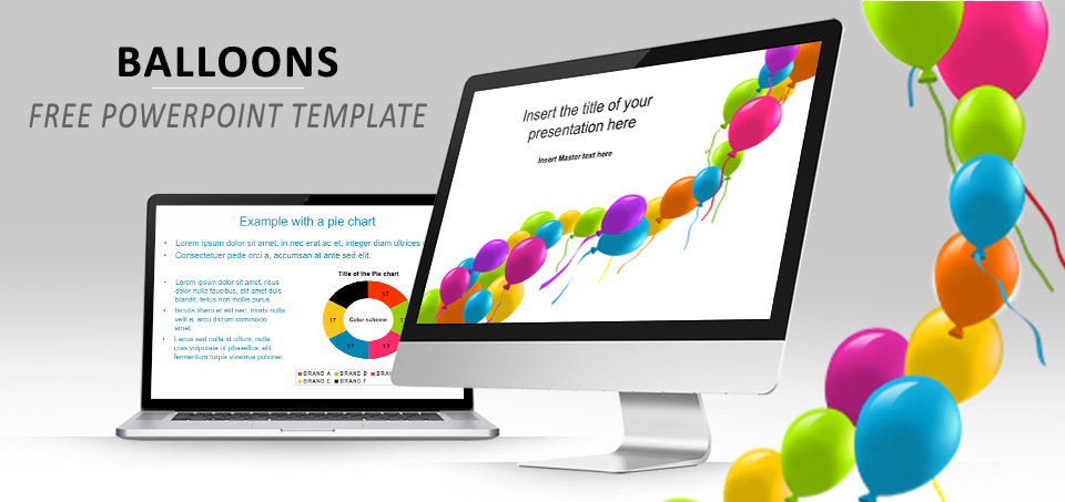 Balloons free PowerPoint template