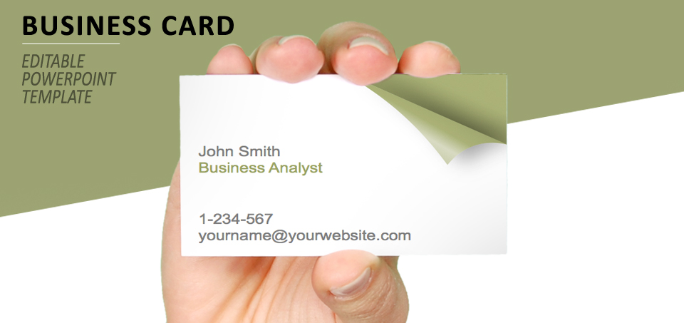 The Page Business Card Template For PowerPoint - Editable business card templates free
