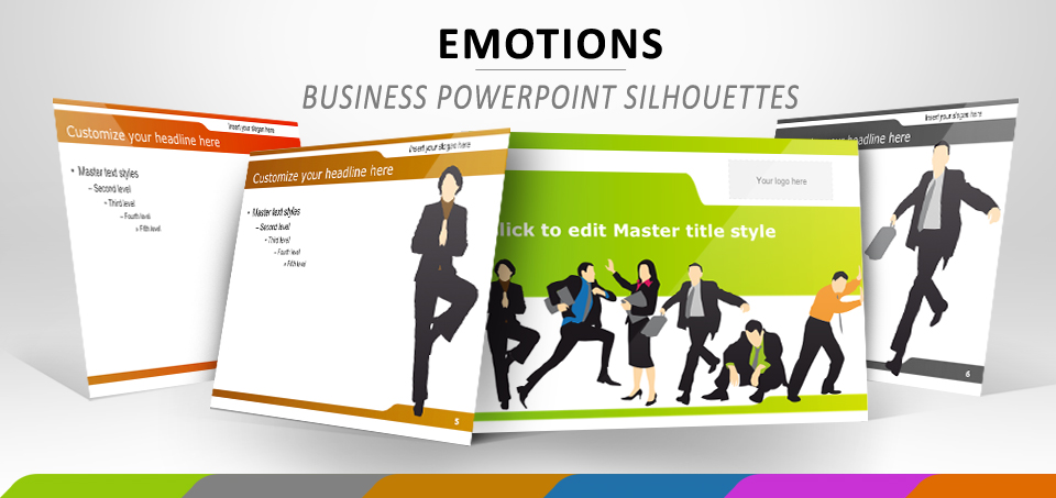 Business and silhouette emotions free powerpoint template toneelgroepblik