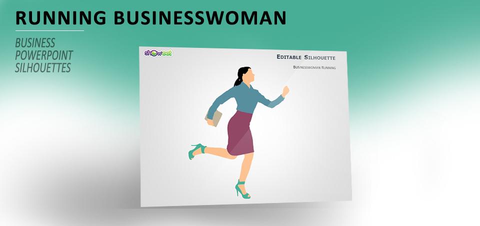 Businesswoman running for PowerPoint
