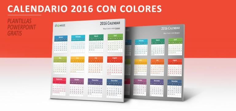 Calendario 2016 PowerPoint