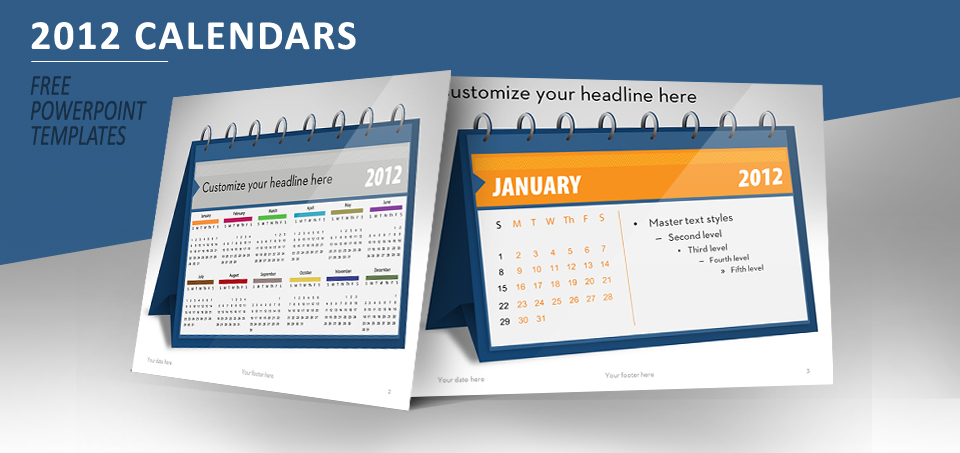2012 calendar for PowerPoint