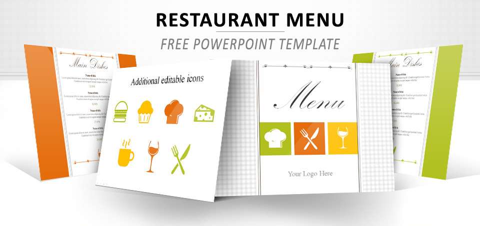 Restaurant Menu PowerPoint Template - Powerpoint menu template