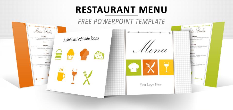 menu powerpoint template, Powerpoint