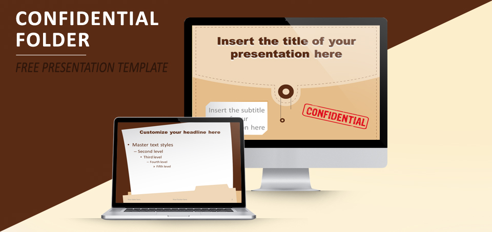 Confidential folder template for powerpoint and impress confidential folder free template for powerpoint and impress toneelgroepblik Choice Image
