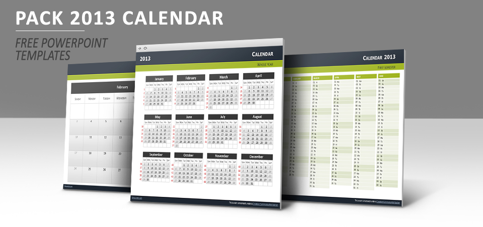 Calendar 2013 for powerpoint full pack full pack calendar 2013 toneelgroepblik Choice Image