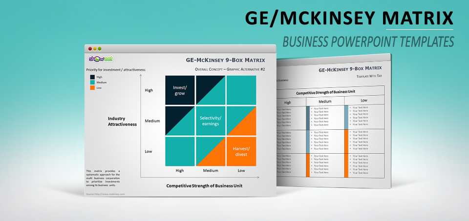 Ge Mckinsey Matrix For Powerpoint