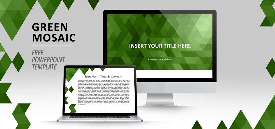 Gree Mosaic PowerPoint template