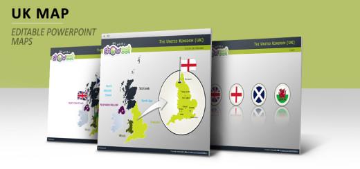 Wales free templates free maps of united kingdom for powerpoint toneelgroepblik Gallery