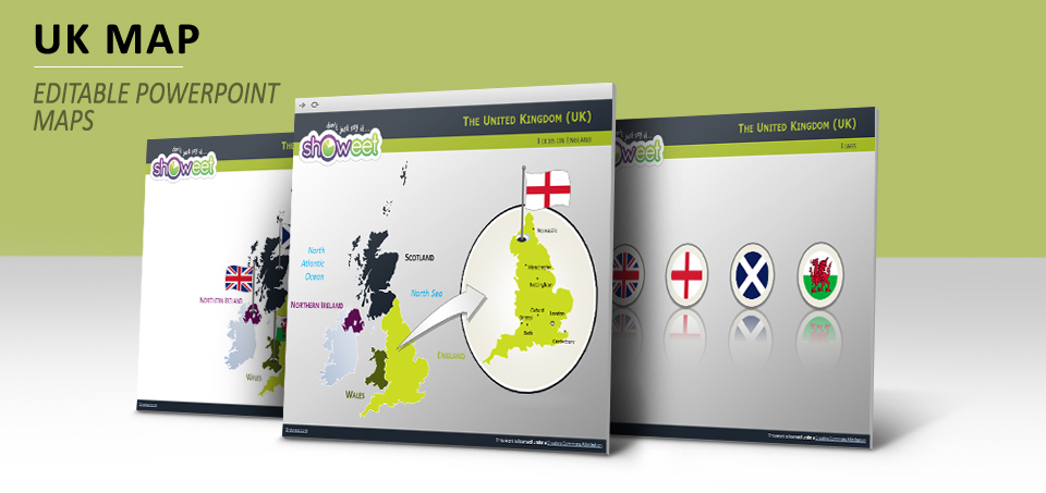 UK map PowerPoint template