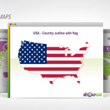 USA map PowerPoint template