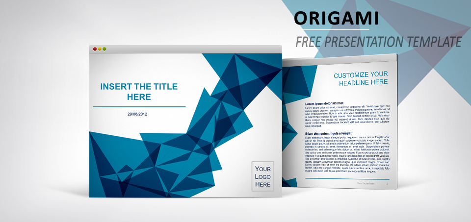 Origami free template for powerpoint and impress toneelgroepblik