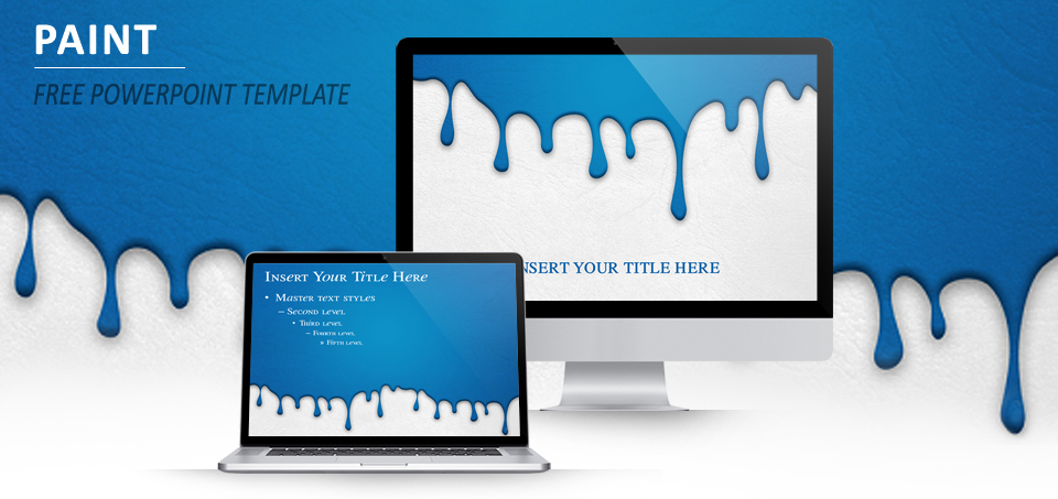 paint color dripping template for powerpoint