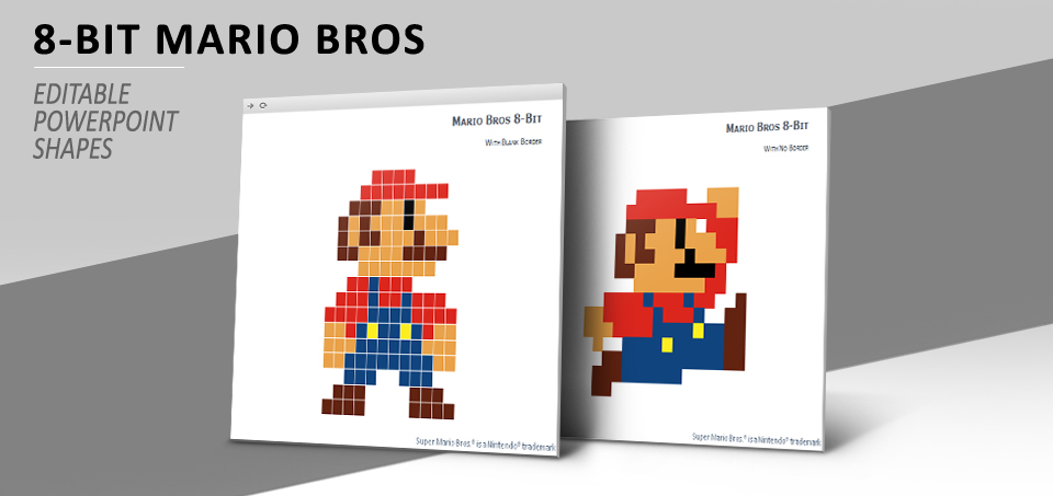 8 Bit Pixel Mario Bros For Powerpoint