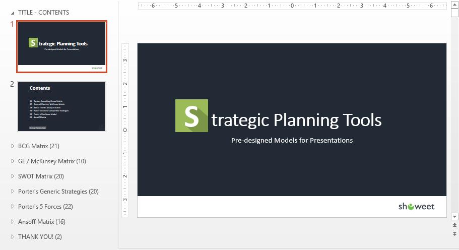 Sections thématiques PowerPoint