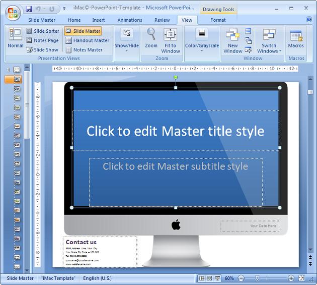 Captura de pantalla iMac PowerPoint