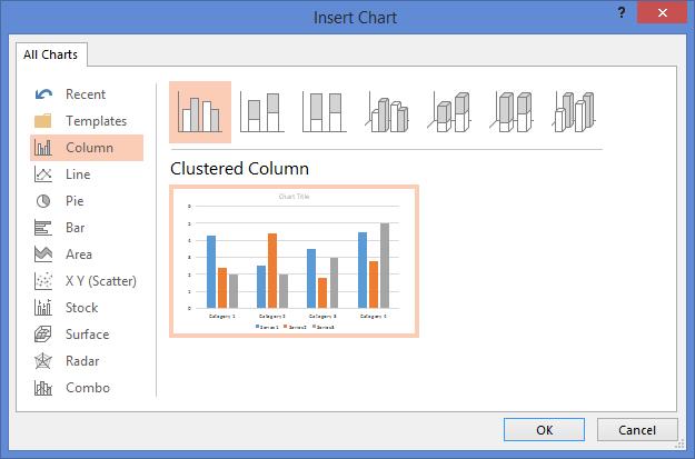 Data-driven PowerPoint charts - Insert chart