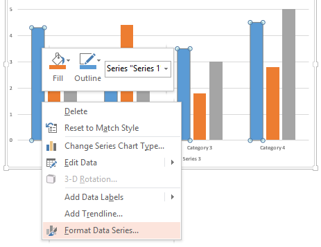 Data-driven PowerPoint charts - Edit data series