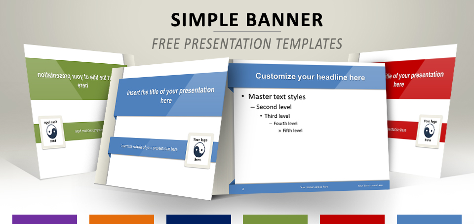 simple banner  u2013 mod u00e8le pour powerpoint et impress