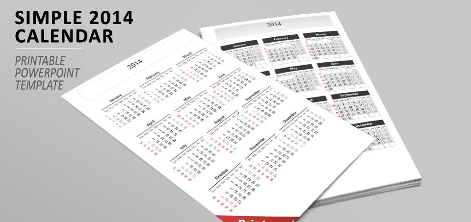 2014 Calendar PowerPoint