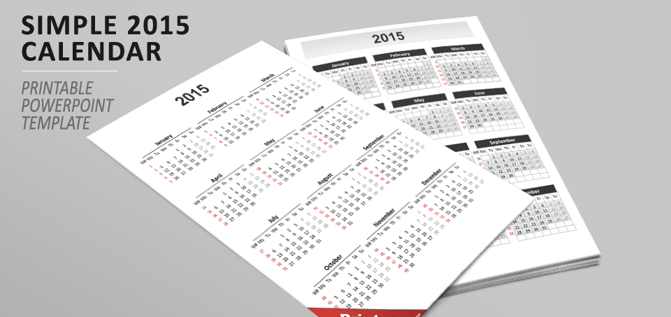 Calendar 2015 for powerpoint simple calendar 2015 for powerpoint toneelgroepblik Image collections