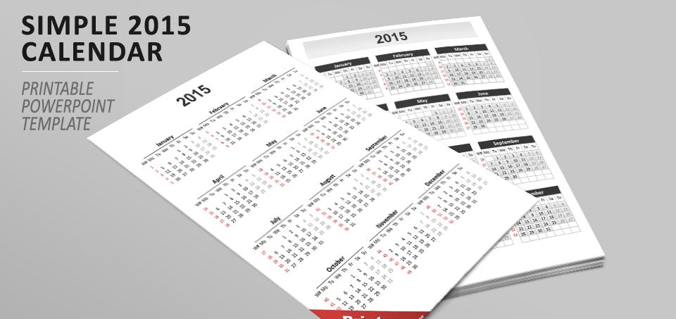 Simple calendar 2015 for powerpoint toneelgroepblik Image collections
