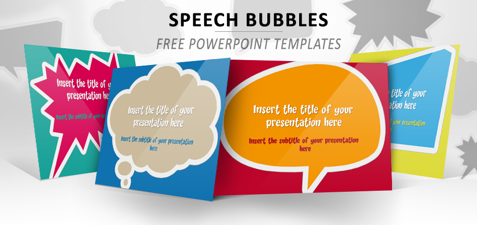 speech bubbles  u2013 free template for powerpoint and impress