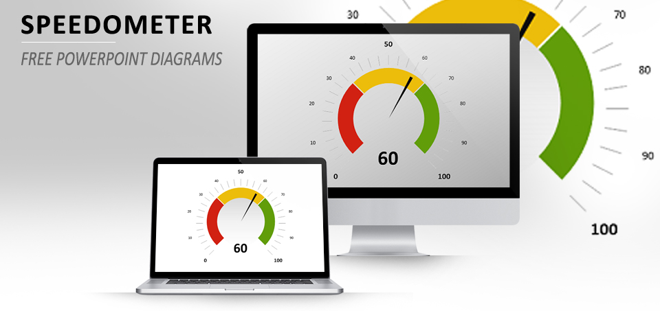 Speedometer PowerPoint diagram
