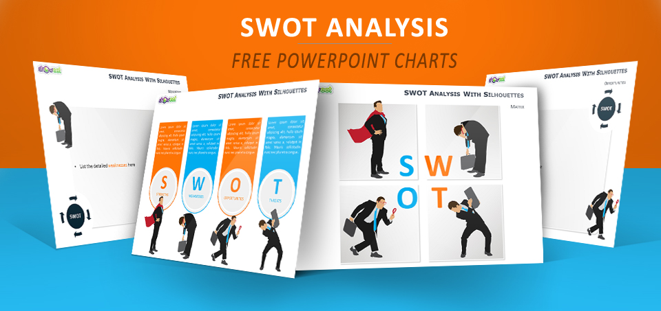 SWOT Silhouettes PowerPoint