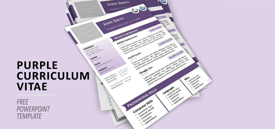 Purple CV PowerPoint
