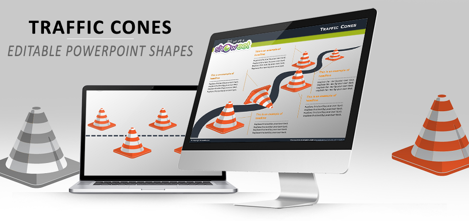 Traffic Cones PowerPoint template