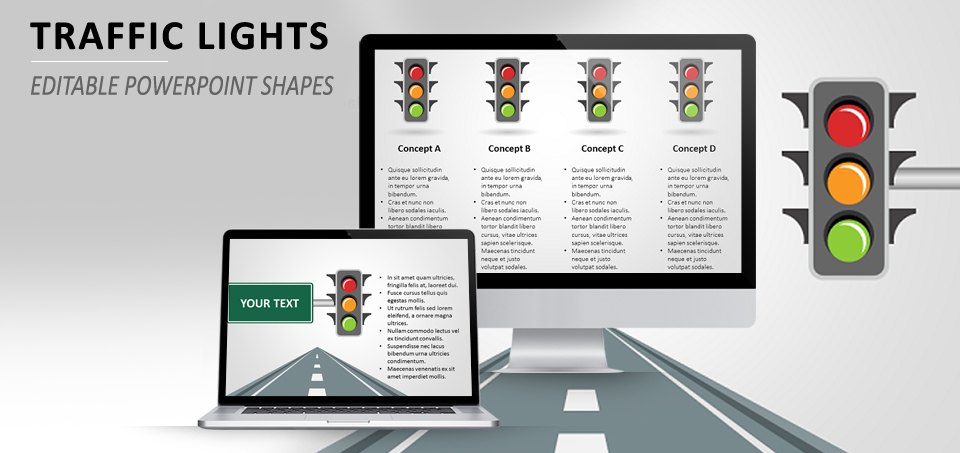 traffic lights powerpoint template