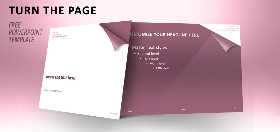 Turn the page template for powerpoint purple toneelgroepblik Images