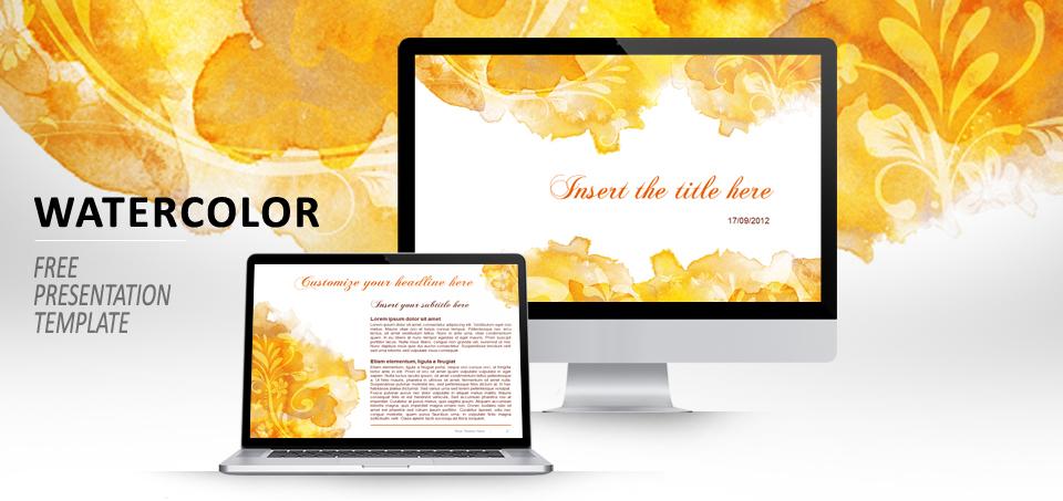 Aquarelle mod le pour powerpoint et impress - Open office impress telecharger gratuit ...